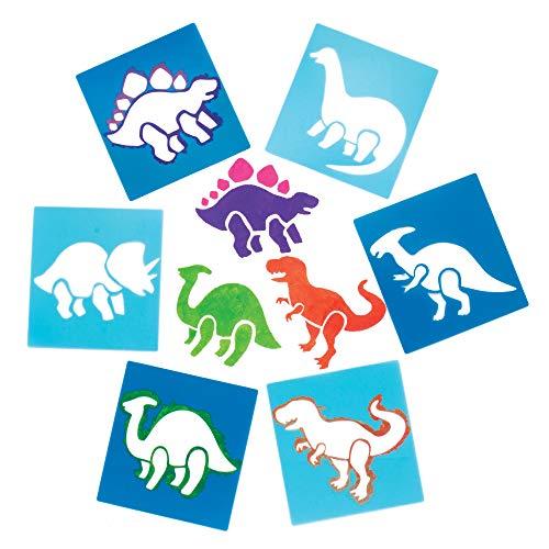 """Baker Ross Schablonen """"Dinosaurier"""" für Kinder – für Bastelarbeiten und Dekorationen (6 Stück)"""