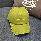 BAJSKD Primavera y Verano Fruta Verde Letra pequeña Gorra de béisbolVerano Fresco Versátil Gorra de Visera Gorra de béisbol para Hombres Sombrero de Mujer