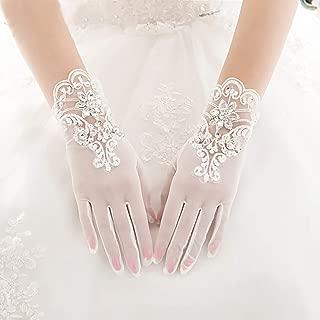 Women Lace Gloves Elegant Flower for Dress Wedding