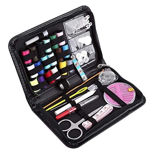 1 Set Anfaenger Naehset, Nähset Mehrzweck Kleinen Faden & Nadel Nähen Kit mit 18 Spulen von Faden 18 Farbe Maßband Schere Nähzubehör für Anfänger Zuhause Ausbessern Reparatur