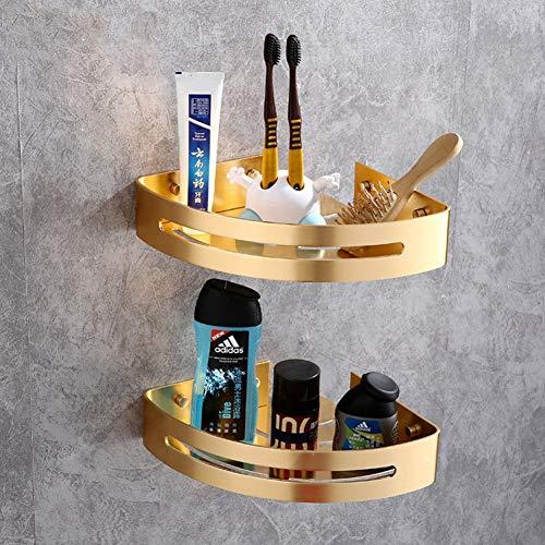 LCBLC Baño Trípode De Almacenamiento De Doble Capa Inodoro Negro Canasta Triangular Espacio De Inodoro Estante De Almacenamiento De Aluminio