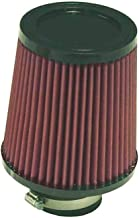K&N Universal Clamp-On Engine Air Filter: Washable and Reusable: Round Tapered; 2.5 in (64 mm) Flange ID; 5.5 in (140 mm) Height; 6 in (152 mm) Base; 5 in (127 mm) Top , RU-4950