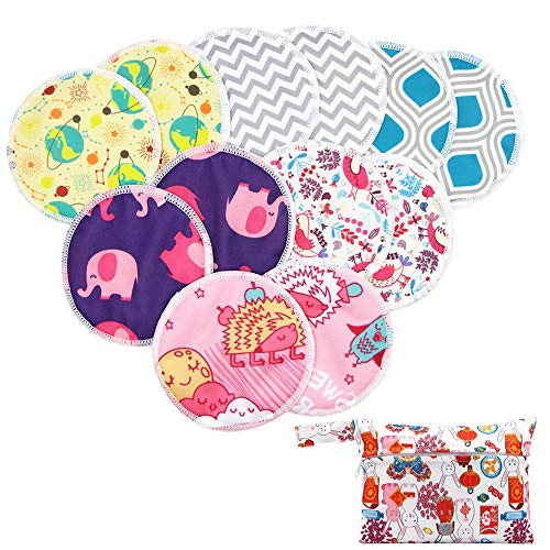 Amazing Deal Asenappy Reusable Bamboo Nursing Pads 12 pcs+1 Bag - for Breastfeeding or Pregnant Moms...