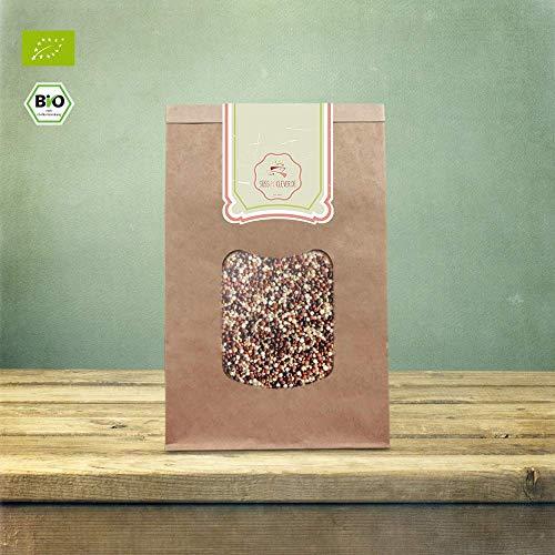 süssundclever.de® Bio Quinoa | Tricolor | 2 x 1 kg | unbehandelt | plastikfrei und ökologisch-nachhaltig abgepackt
