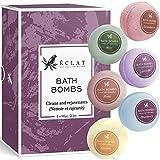 Pack cadeau bombes de bain par Eclat – Kit de 6 bombes de bain aromatiques naturelles & bios – Nettoient et hydratent