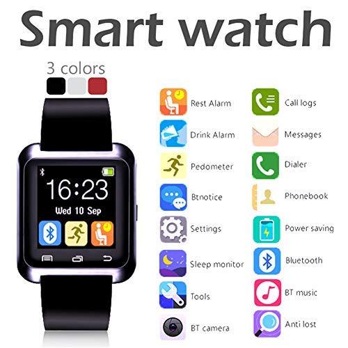 U8 intelligent horloge, knop, touchscreen, 1,54 inch, Smart + h, met stopwatch, stappenteller voor de gezondheid, bluetooth-taal, met rand