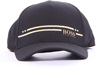 9dc930a4f Hugo Boss Men's Cap-Stripe Cap Hats & Caps 97% Cotton 3% Elastane