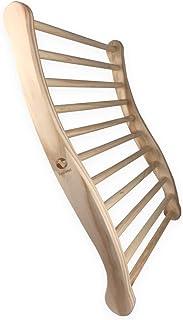 SudoreWell® Dossier Ergonomique Confortable en Bois pour Sauna - 2 Faces ergonomiques - Accessoires pour Sauna
