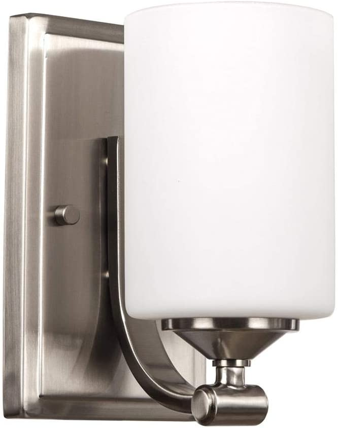 Ranking TOP11 Hampton Bay 1-Light Brushed Nickel with Sconce Wall Opal Seasonal Wrap Introduction Frosted