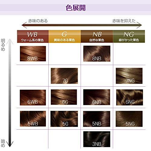L'OrealParis(ロレアルパリ)エクセランスNクリームタイプ白髪染め6NBやや明るい自然な栗色下地エッセンス:12ml1剤:48g2剤:48gトリートメント:40g