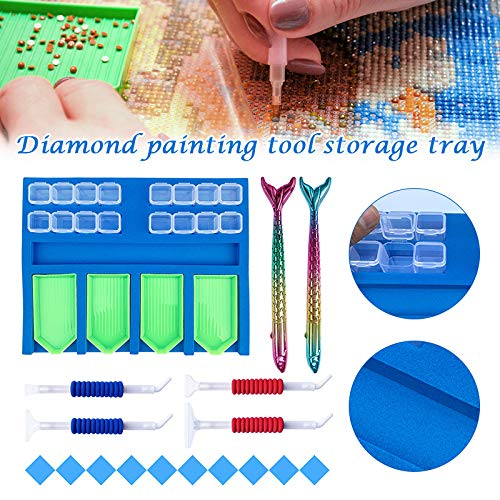 Liamostee Diamond Painting Tray Organizer for Adults Multi-Boat Holder Diamond Painting Accessories Tools Kits for Craft Arts