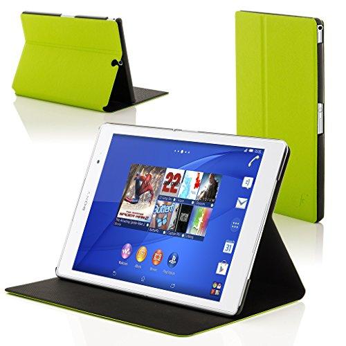 Forefront Cases Smart Hülle kompatibel für Sony Xperia Z3 Tablet Compact 20,3 cm (8 Zoll) SGP611 Schutzhülle Tasche Case Cover Stand - R&um-Geräteschutz Smart Auto Schlaf Wach Funktion (Grün)