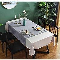 優雅 北欧風 耐熱 防水 防油 撥水加工 テーブルカバー テーブルマットオクスフォード生地 無地 防水加工 耐久 撥水 長方形 テーブルクロス また ピクニックテーブルクロスガーデンバーベキューブランチカフェレストラン食堂などとして屋外での使用に適しています (Color : Gray, Size : 130*200CM)