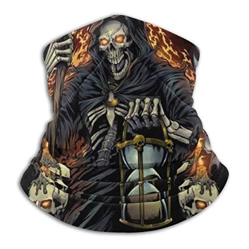 fenrris65 Grim Reaper con máscara facial de reloj de arena para polvo, al aire libre, festivales, deportes