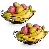 DOWAN Large Fruit Basket Bowl - Wired Wave Kitchen Vegetables Bowl for Fruit, Vegetable and Bread...