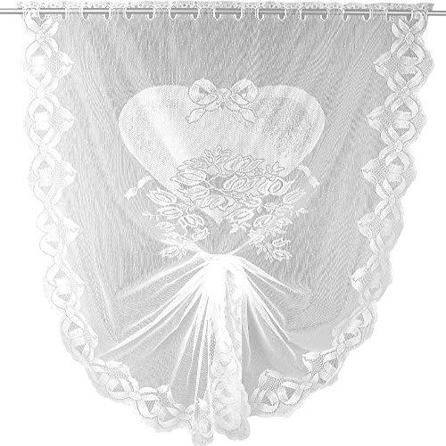 Arsvita Schwalbenschwanz Bistrogardine in weiß (BxL) 100 x 160 cm - Design: Herz