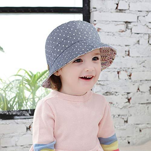 GEMVIE - Cappello da pescatore con protezione UV, per bambini e bambine, da spiaggia Blu S