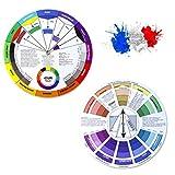 ONE+PLUS 2 ruedas de colores para colorear, rueda de mezcla, rueda de colores, rueda giratoria de colores, rueda de bolsillo para pintar, diseño y maquillaje (versión francesa)
