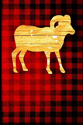 Buffalo Plaid Ram Journal: Wood Grain Animal Silhouette - Blank Lined Journal with Soft Matte Cover