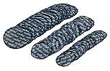 harzole UP-301B45 45pc tire Repair Patch Small Medium Large 15PC 3-1/4' ¢79mm, 15PC 1-5/8'¢41mm,15PC 2-1/4' ¢57mm(OV-1077)