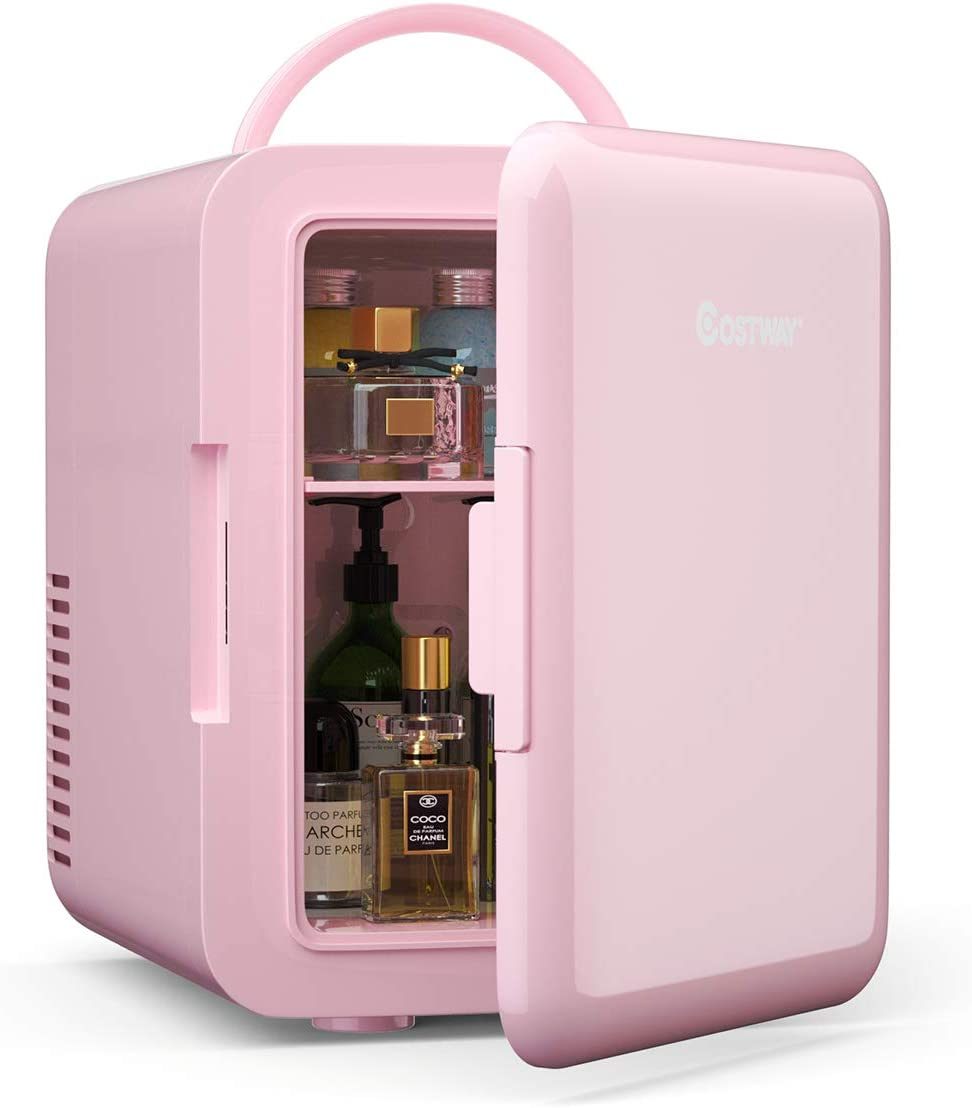 COSTWAY 4 キャンペーンもお見逃しなく Liter Mini Fridge Skincare Coole Portable Makeup レビューを書けば送料当店負担