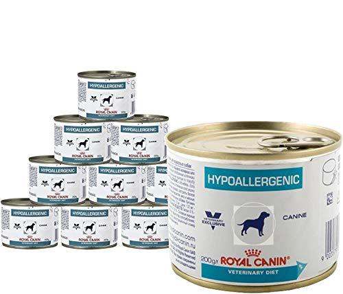 Royal Canin Hypoallergenic, cibo per cani dietetico e ipoallergenico, confezione da 24 scatolette da 200 g (etichetta in italiano non garantita)