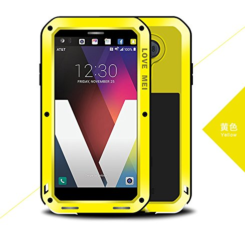Lovemei - Carcasa para LG V20 Powerful híbrida (impermeable, antigolpes, antipolvo), color amarillo