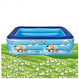 OYZK Inflaje Infantil Piscina Espesada Inicio Hogar para Adultos Piscina Bebé Piscina Piscina Piscina Agua Diversión Juego Pool Pool (Color : PE Bag, Size : 150 * 105 * 55CM)