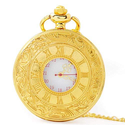 SHKUU Reloj Bolsillo clásico Reloj Cuarzo Números Romanos clásicos Relojes Bolsillo Bolsillos Negros Hombres Viejos Mujeres Accesorios Regalos cumpleaños para Padres