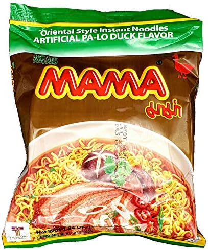 MAMA Ramen Oriental Style Instant Noodles Artificial Pa Lo Duck Flavor 1 94oz 10 Pack Bulk Ramen product image