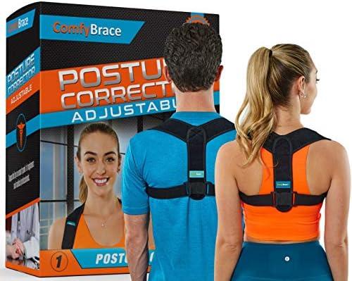 Comfy Brace Posture Corrector Back Brace for Men and Women Fully Adjustable Straightener for product image