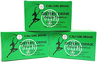 Cali Girl Brand Dieters Tea - Natural Detox, Cleanse and Weight Loss Tea. Get Trim, Skinny & Fit with Diet Enhancing Natural Senna Leaf (3 Pack, 36 Bags Total)