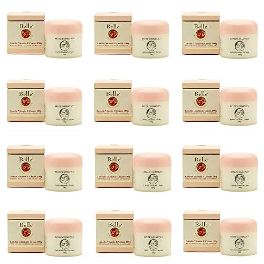 年資金ストッキング[Belle Cosmetics]ベルコスメティック ラノリンビタミンEクリーム100gx12個【海外直送】