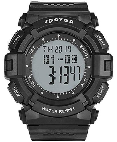Orologio All'aperto Sportivo Digitale Multifunzione per Uomo con Temperatura Barometro Altimetro Cronometro