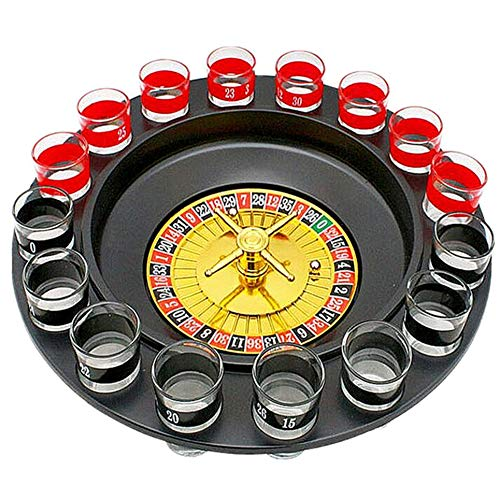 16-Hole Ruleta Rusa Rueda Música Copa de Vino Juego Ktv Ruleta Juego Práctico Copa de Vino Tocadiscos