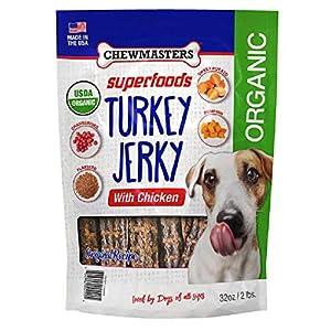 Chew Masters Chew Master Organic Turkey Jerky with Chicken Dog Treat (32 Oz),