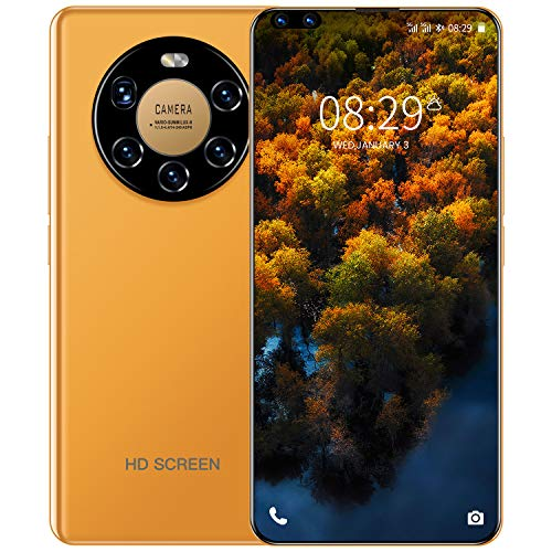 YUTAO 4G Handys ohne Vertrag, Android 10 Smartphones 7.3 Zoll 4GB + 32GB 5600mAh, Dual SIM GPS,24 MP+48 MP Kamera, Face ID, Bluetooth, GPS