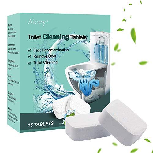 Aiooy Toilet Bowl Cleaner,Toilette Detergente Automatico,Disincrostante WC Detergente, per la Pulizia di Toilette e Orinatoi, Disinfettante Bagno e Anti Macchia (15 PCS)