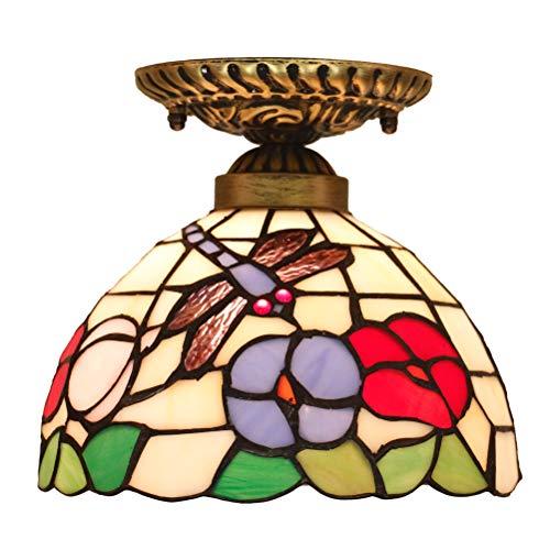 Odziezet Plafonnier de Style Tiffany Lampe Vintage Éclairage Intérieure Extérieure