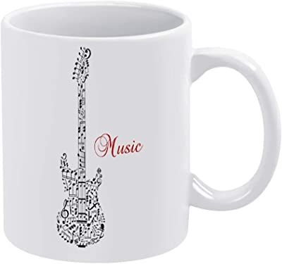 ギター マグカップ 耐熱マグカップ コーヒー グッズ 陶器 グラスグリーン 大容量 真空断熱 ギフト 優先ギフト 美しいパッケージ 330ml