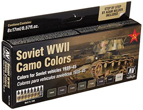 Acrylicos Vallejo Model Air - Set di Colori Acrilici per Aerografo, Multicolore