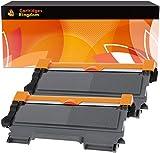Cartridges Kingdom TTN2010 TN2220 Pack de 2 Compatibles Cartuchos de Tóner para Brother DCP-7055 7057 7060D 7065DN HL-2130 HL-2132 2135W HL-2240 2240D 2250DN 2270DW MFC-7360N 7460DN 7860DW FAX-2840
