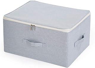 Boîte De Rangement Pliable Avec Couvercle Et Poignée, Boîte D'organisateur Pour Le Rangement En Tissu Avec Fermeture À Gli...