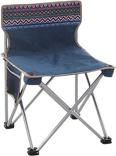 ZMCKD Chaise de Camping Pliante Chaise de Camping Pliante d'extérieur Dossier portable renforcé léger Camping Fournitures Plage arrière Chaise de pêche