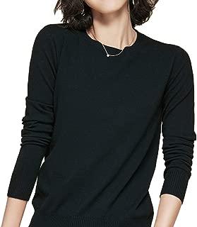 Panreddy Women's Crewneck Knit Light Weigth Pullover Sweater