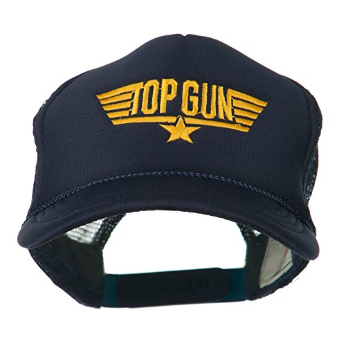 Price comparison product image Youth Top Gun Embroidered Foam Mesh Cap - Navy OSFM
