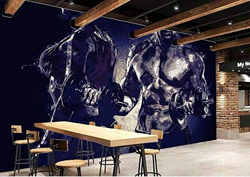 Papel Tapiz Mural Fitness Poster Gym Background Wall Photo Wallpaper