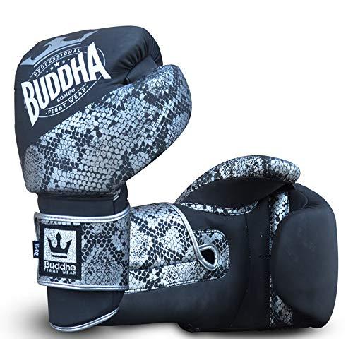 Handschuhe Buddha Combo Silber, Unisex, Silber/Schwarz, 10 onzas