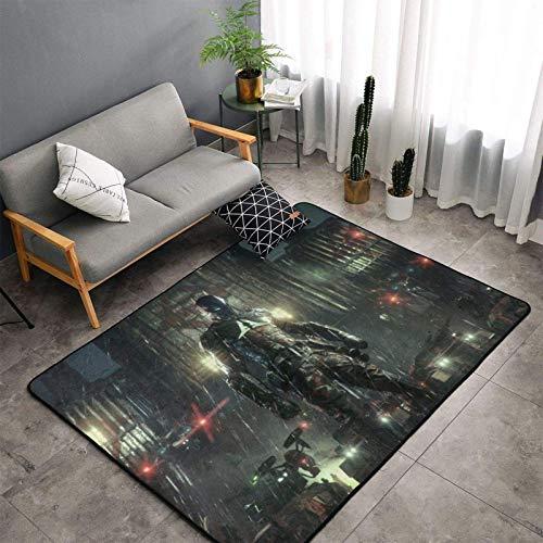 yunyang Alfombra de patrón, suave, resistente a la decoloración, antideslizante, alfombrilla para el suelo, para el hogar, dormitorio, sala de estar, 152 x 99 cm.