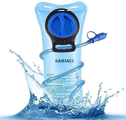 Raniaco Bolsa de Agua Portátil de 2 Litro, Bolsa de Agua Deportiva para Usos en Espacios Exteriores